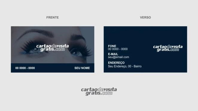 download modelo de cartão de visita designer de sobrancelhas vetor