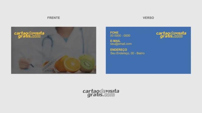 download modelo de cartão de visita nutricionista vetor