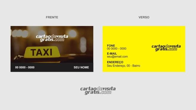 download modelo de cartão de visita taxista vetor