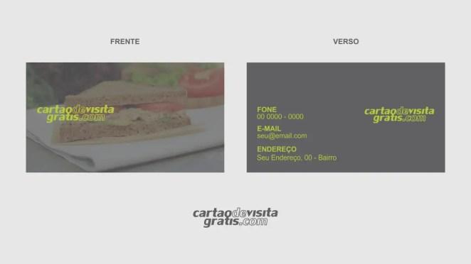 download modelo de cartão de visita sanduíche natural vetor