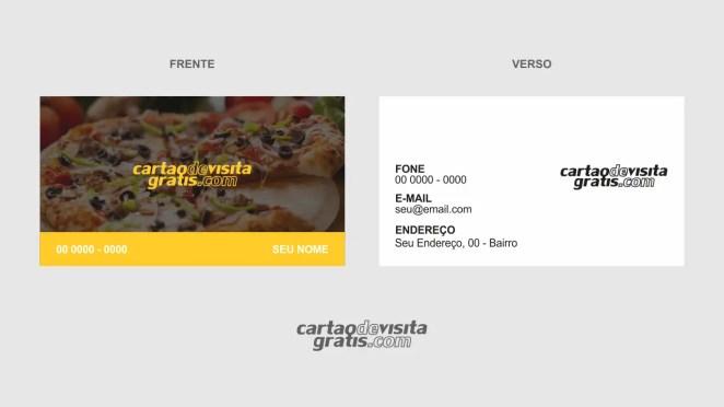 download modelo de cartão de visita pizzaria vetor