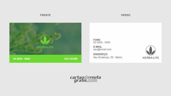 download modelo de cartão de visita herbalife vetor