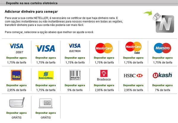 neteller deposito banco do Brasil