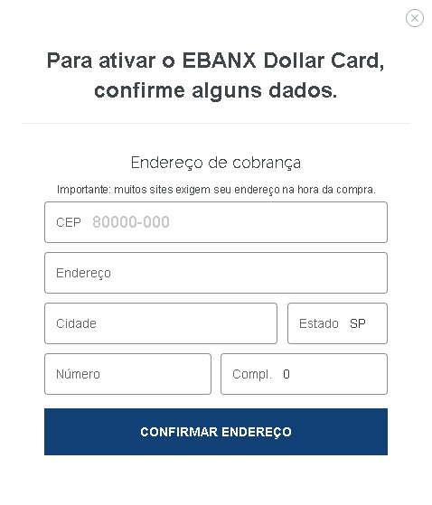 Ebnax Dollar Card Confirmar Dados 2