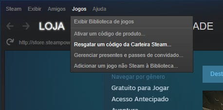 Resgatar Codigo Carteira Steam