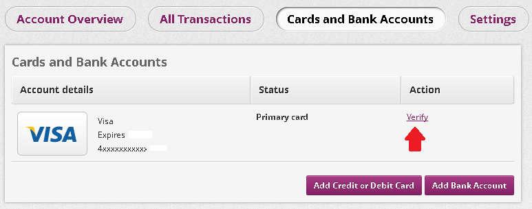 Adicionar e verificar cartão de credito na Skrill 4