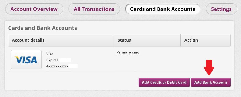 Adicionar Conta bancaria na Skrill 2