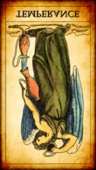 La Templanza invertida Tarot