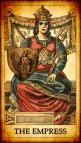 Péndulo de piedra turquesa relacionada con la carta de la Emperatriz