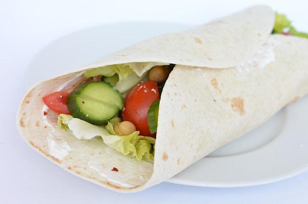 Wrap vegetarian