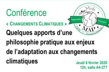 Midi-MAP : conférence « Changements Climatiques » ce jeudi