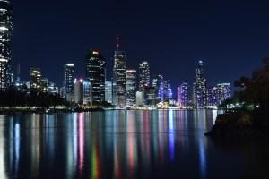 brisbane, city, lights