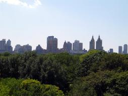 Across Central Park from the Metropolitan Roof Garden