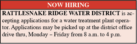 Now Hiring – Rattlesnake Ridge Water District