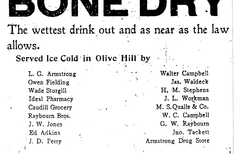 Uncle Jack Fultz's Memories of Carter County: Bone Dry – What kind of beverage was this?