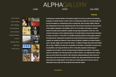 Introduction to Web design & coding Alpha Gallery