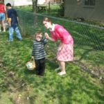 Our last Easter egg hunt in the States