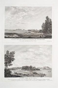 Gravure ancienne - Courbevoie & Puteaux - Original antique engraving