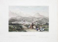 Gravure ancienne de Clermont -Ferrand