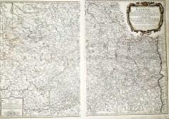Carte géographique ancienne du Lyonnais - Beaujolois - Lyon - Moulins - Riom