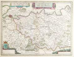 Carte géographique ancienne de la Brie