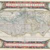 Mappemonde - carte géographique ancienne - Abraham Ortelius