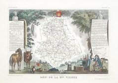 Carte géographique ancienne du département de la Haute-Vienne