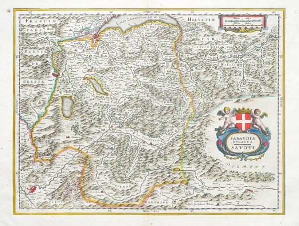 Carte géographique ancienne - La Savoie - Sabaudia