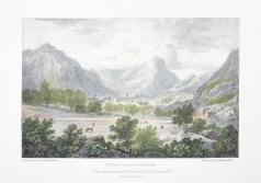 Lithographie ancienne de Saint Jean de Maurienne