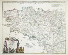 Carte ancienne de la Bretagne - Antique map