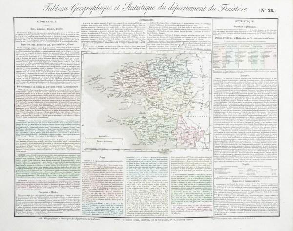 Carte originale du Finistère