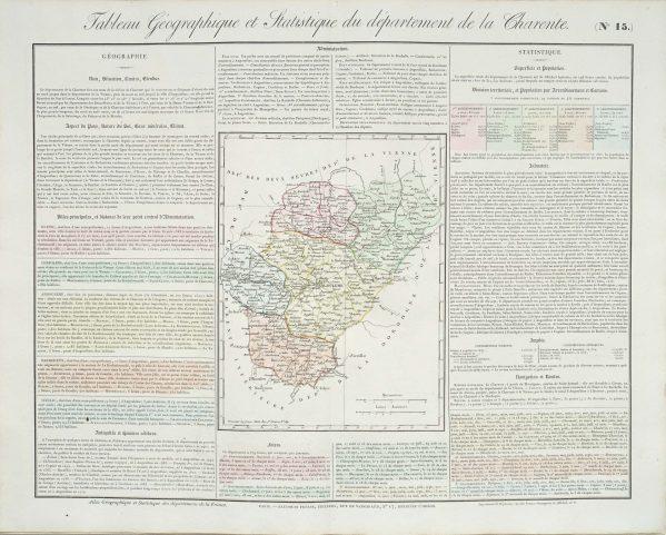 Carte originale de la Charente