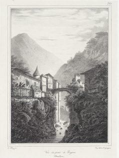 Gravure ancienne du pont de Royans