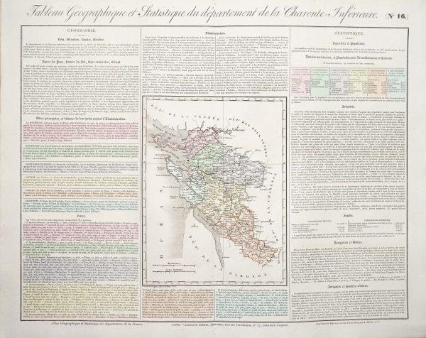 Carte originale de la Charente Inférieure