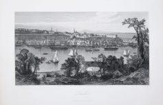 Gravure ancienne de Québec - Antique engraving