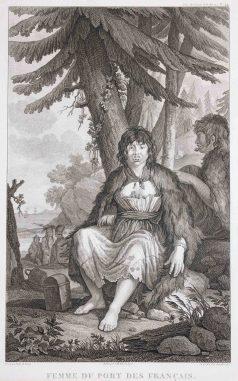 Femme du Port des français - La Pérouse - Antique engraving