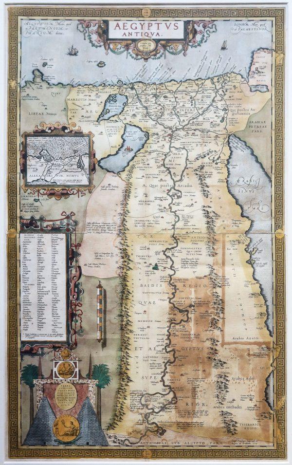 carte ancienne de l'Egypte
