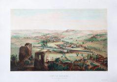 Gravure ancienne - Lons-le-Saulnier - Montmorot - Voyage Aérien en France