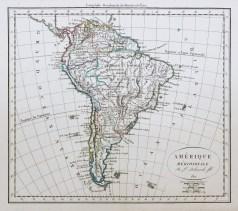 Carte géographique ancienne de l'Amérique méridionale - Antique map