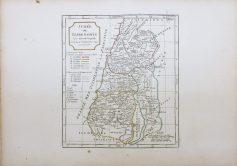 Carte géographique ancienne du Judée ou Terre Sainte - Antique map