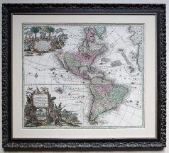 Carte géographique ancienne des Amériques - Original antique map