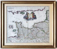 Carte géographique ancienne de la Normandie