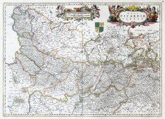 Carte géographique ancienne de la Picardie - Antique map