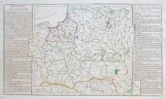 Carte géographique ancienne du Royaume de Pologne - Antique map