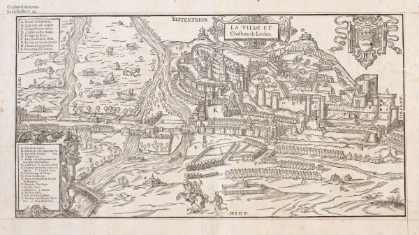 Gravure ancienne du Château de Loches