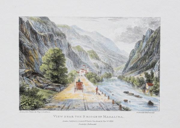 Lithographie ancienne - Village de Madalina