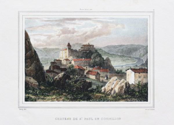 Saint Paul en Cornillon - Gravure ancienne