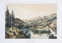Vallée de Mortagne- lithographie ancienne