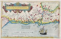 Carte géographique ancienne - Languedoc - Antique map