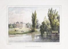 Gravure ancienne du Château de St. Vrain